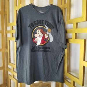 Disney Grumpy Dwarves I Know Everything Shirt 2XL